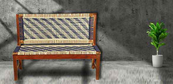 Wooden knitted Bench online
