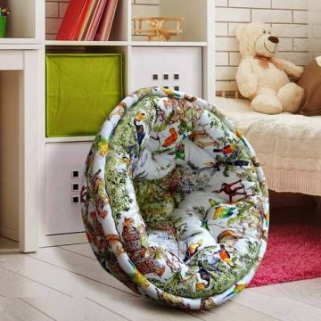 organic-cotton lap-pouffe