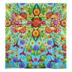 Spring Multi Color Organic Cotton Voile Quilt
