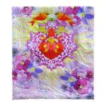 Heart Print Multi Color Organic Cotton Voile Quilt