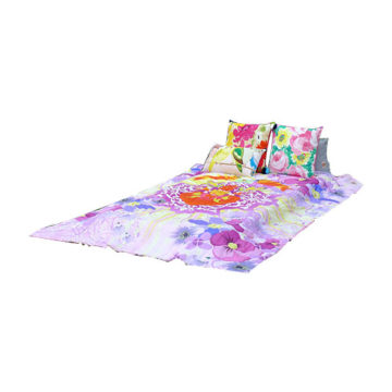 Heart Print Multi Color Organic Cotton Voile Quilt