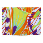Abstract Multi Color Organic Cotton Voile Quilt