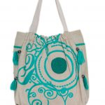 Beige and Green Multi Purpose Bag For Women (NOOR2)