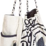 Brown and White Cotton Tote Bag For Women (NOOR1)
