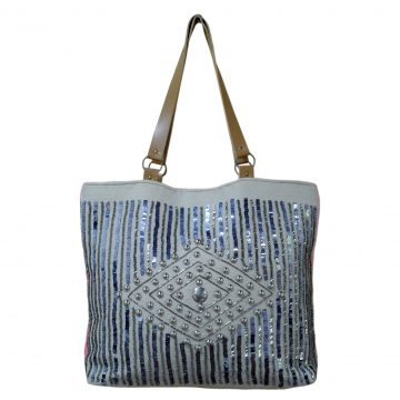 Grey Multi Purpose Jute Bag For Women