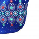 Blue Velvet Party Hand Bag For Women (PARAG1)