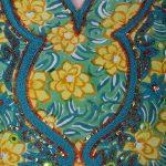 Floral Print Delicate Motif Viscose Crepe Short Kurti (Lemon)