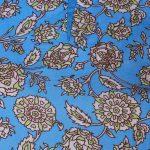 Rayon Floral Print Sky Blue Color Viscose Modal Straight Kurti (Nalli)