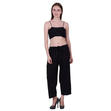 Black Color Cotton Fabric CAPRI for Womens (PIN)
