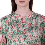 Rayon Crepe Fabric Printed Kurti