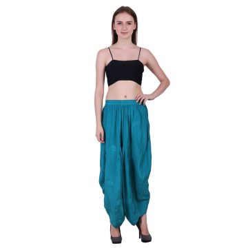 Sky Blue Color Rayon Harem Pants (HERME)