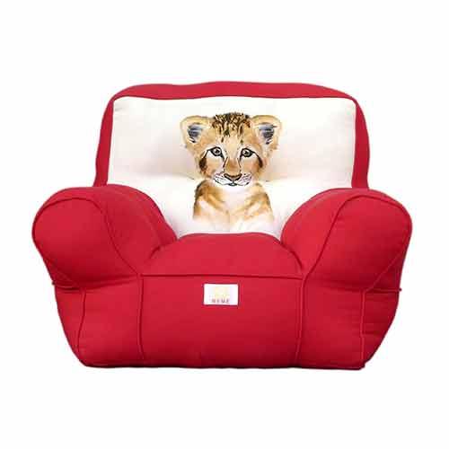 Digital Printed Red Kids Sofa