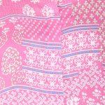 Pink Color Hand Block Print A-Line Kurta