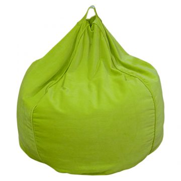 Green Organic Cotton Velvet Bean Bag Cover