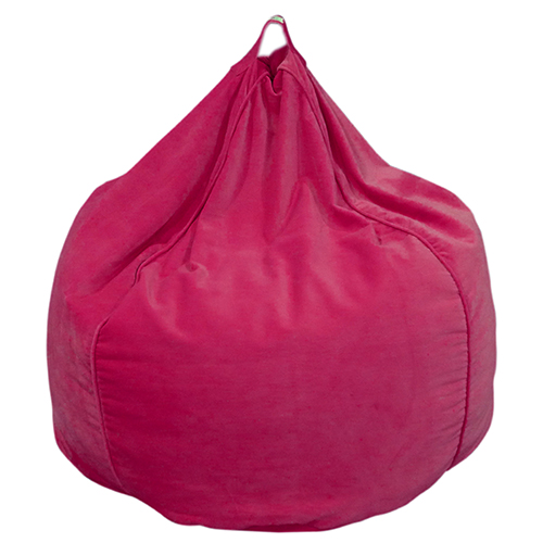 Pink Organic Cotton Velvet Bean Bag Cover