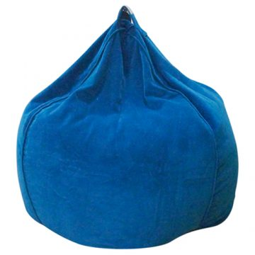 Blue Organic Cotton Velvet Bean Bag Cover