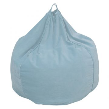 Sky Blue Organic Cotton Velvet Bean Bag Cover
