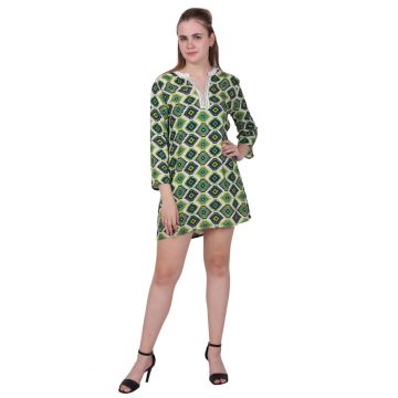 Geometrical Pattern Cotton Kurti