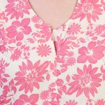 Cotton Floral Printed V Neck Kurta