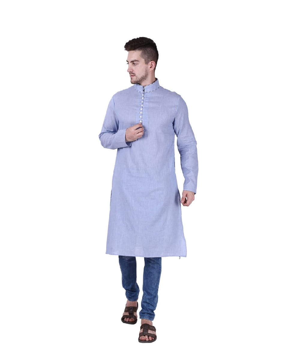 Blue Mens Kurta