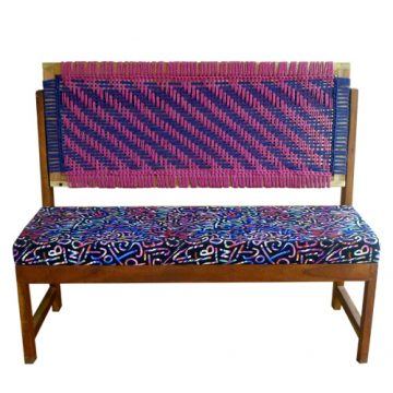 Digital Print Cushioned Bench