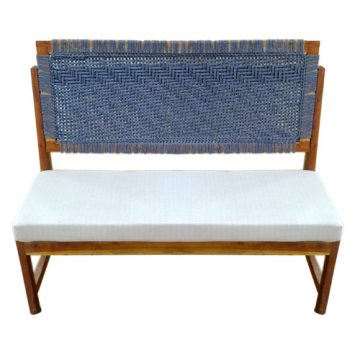 Knitted Cushioned Bench