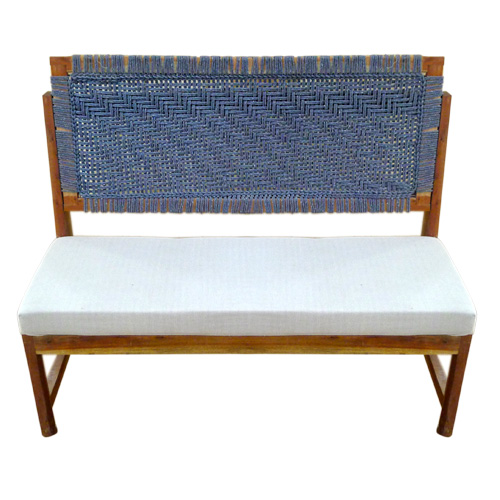 Knitted Cushioned Bench 1