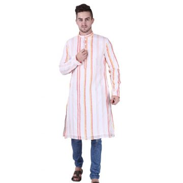 Orange Mens Kurta