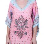 Multicolor Party Wear Printed Silk Kaftan (DRISHTI)