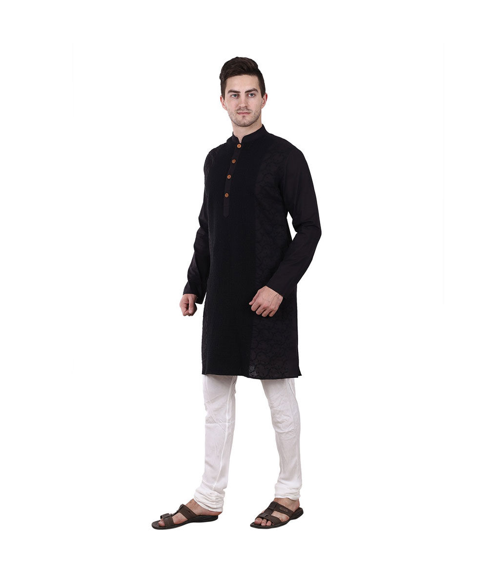 Black kurta Mens