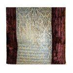 White & Brown Machine Embroidered Jaipuri Velvet Quilt