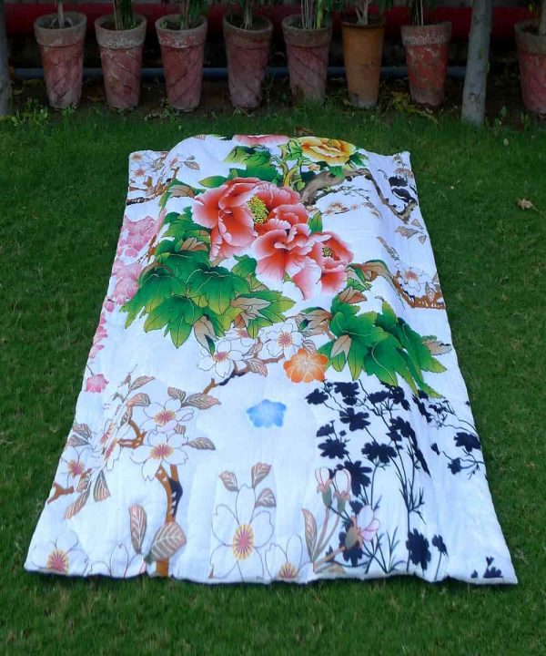 Floral Printed quilt