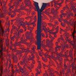 Red and Blue Georgette Printed Kurta (Palak)