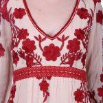 Peach long dress for women