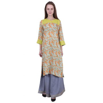 Pintucks Asymmetric Kurta