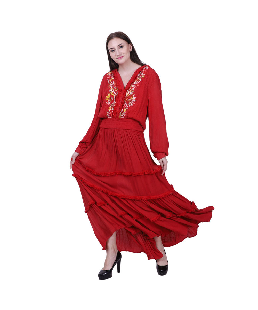 Rayon Long Dress for Women