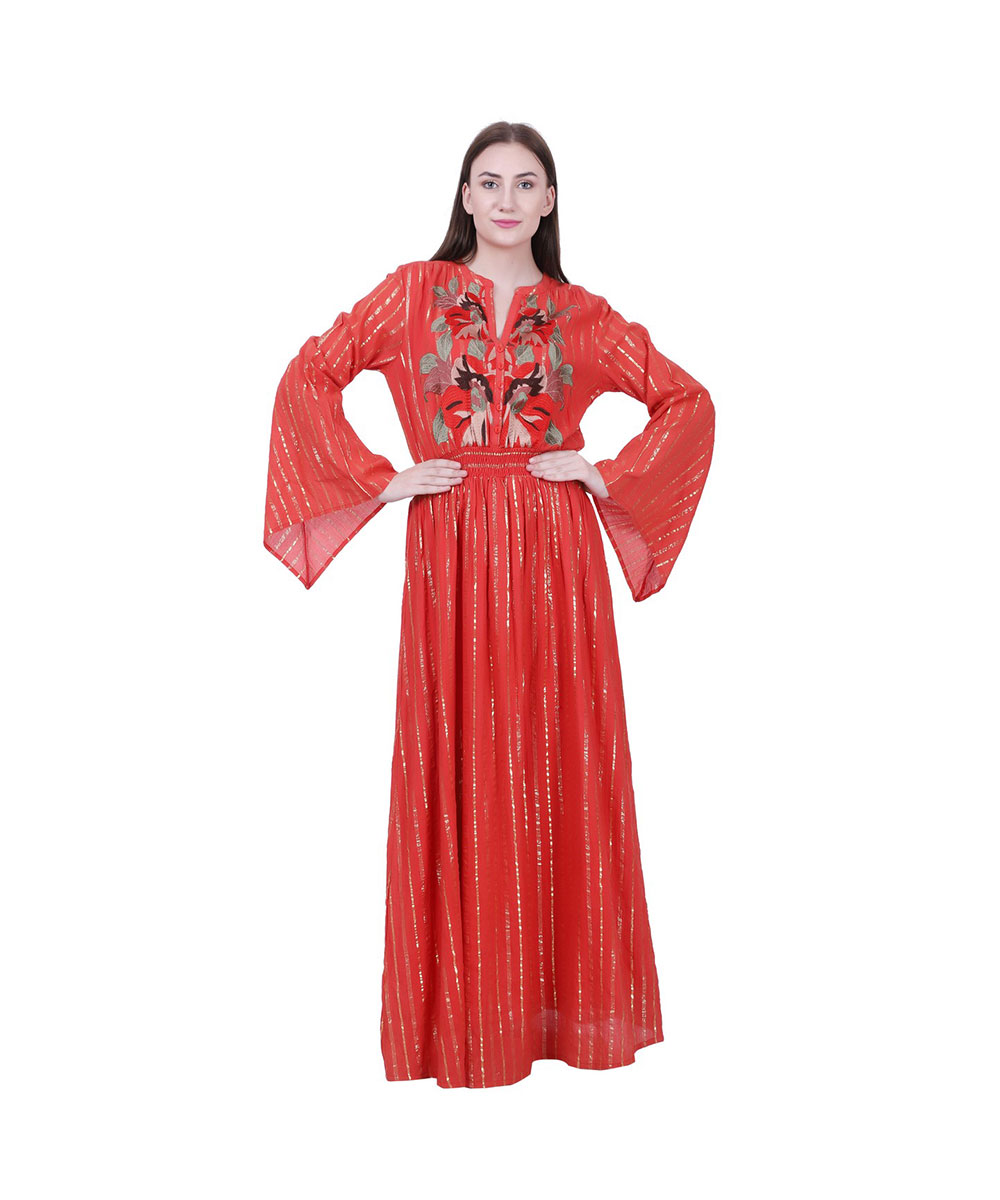 Red Party Wear Long Dress
