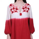 Red & White cotton dress