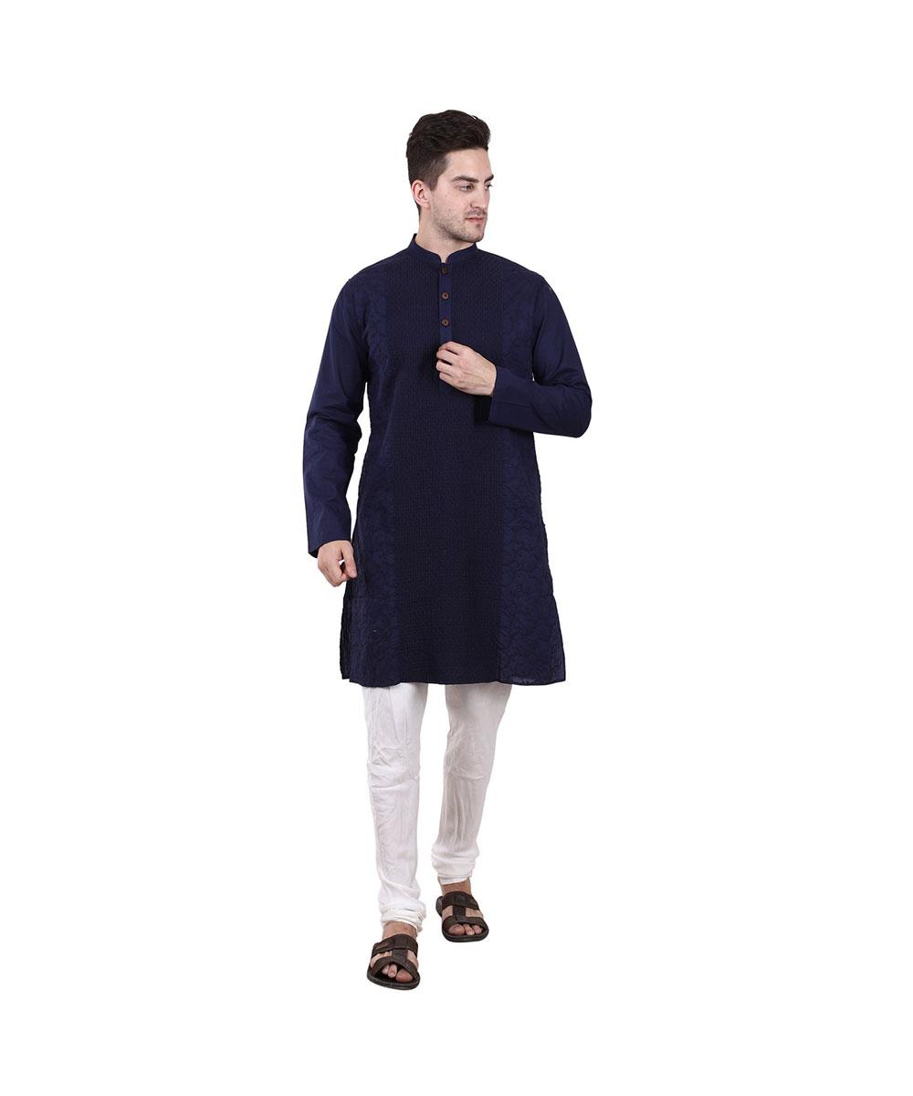 Royal blue kurta for mens