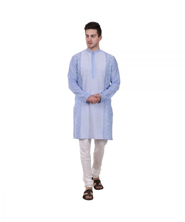 Sky blue Kurta Mens