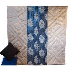 Sky Blue Machine Embroidered Jaipuri Velvet Quilt