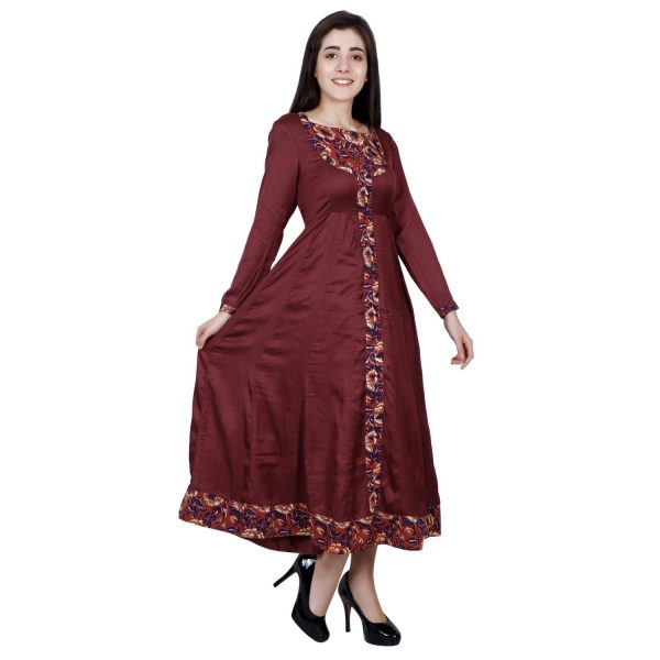 Wine Color Kurta