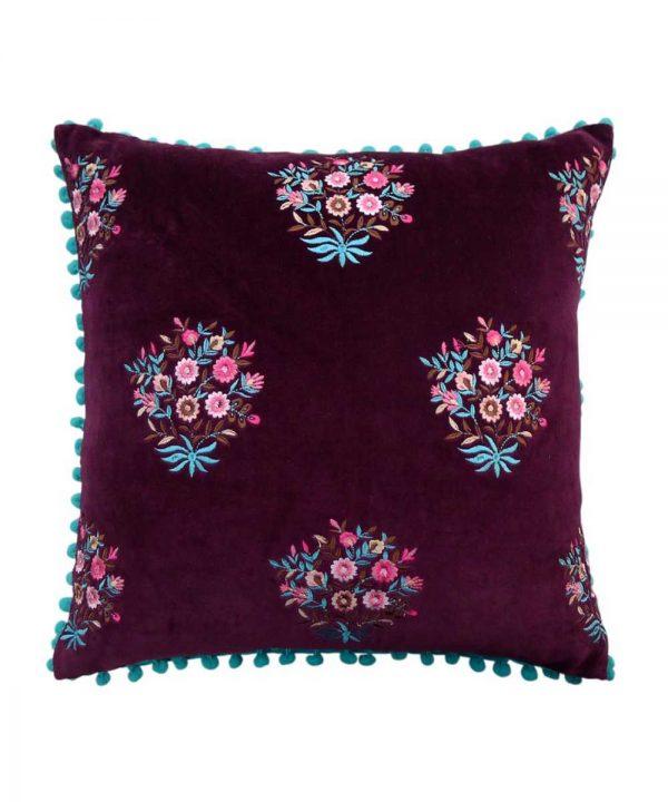 Wine-Velvet-Cushion Cover