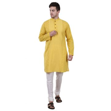 Yellow Kurta for Men