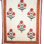 Multicolor Block Print Jaipuri Cotton Voile Quilt