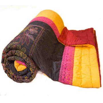 Multicolor- red Jaipuri Quilt
