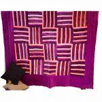 Purple & Multicolor Machine Embroidered Jaipuri Velvet Quilt