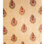 Multicolor Beige Digital Print Cotton Voile Quilt