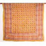 Multicolour Digital Floral Print Kantha Cotton Voile Quilt