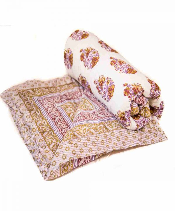 Jaipuri Block Print Multicolor Cotton Voile Quilt